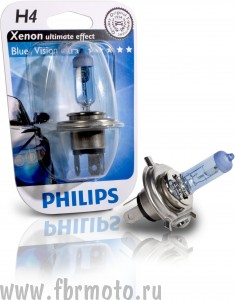 Лампа Philips Blue Vision  H4 60/55W