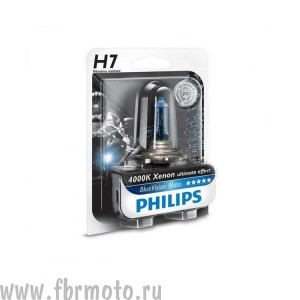 Лампа Philips Blue Vision H7 55w
